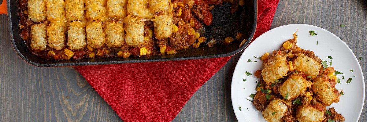 TACO TATER-TOPPED CASSEROLE